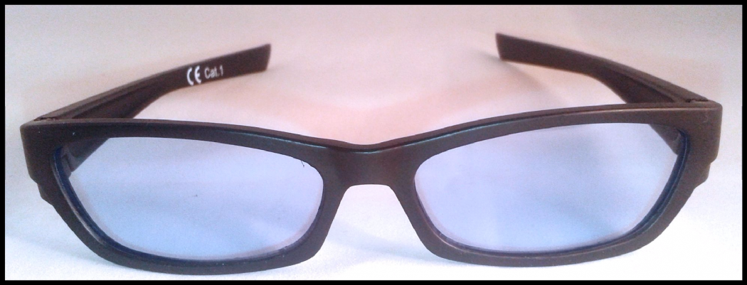 Light blue tinted glasses suitable for age 10 upwards